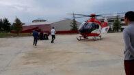 Ambulans helikopter kaymakam için havalandı