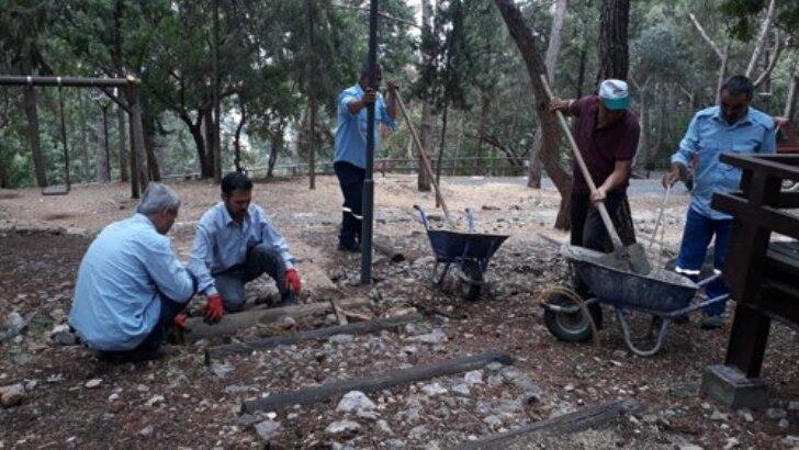 Kozan'da Piknik Alanında Bakım ve Onarım Çalışmaları