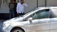 Ziyapaşa'da Otomobil Alev Alev Yandı
