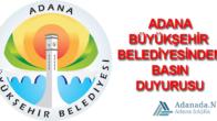 Büyükşehir'den Basın Duyurusu