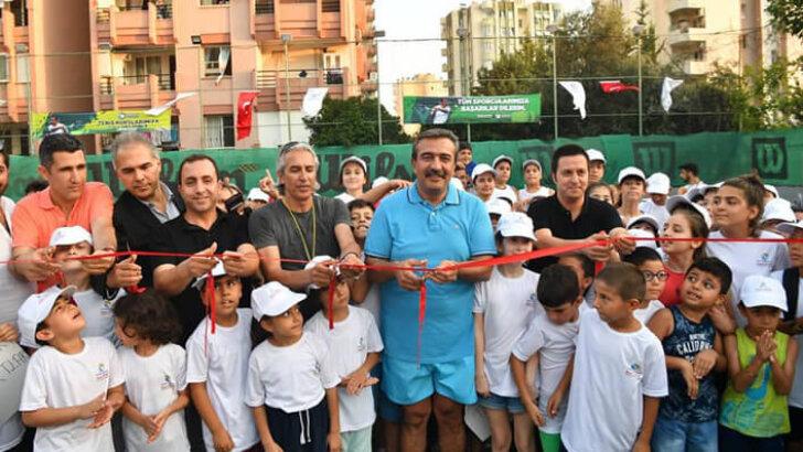 Çukurova'da tenis kursları başladı