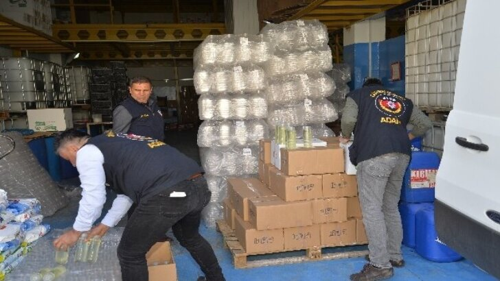 Adana'da 625 litre sahte kolonya