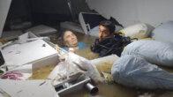 Suda mahsur kalan kadını dalgıç polis kurtardı