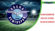 Adana Demirspor 2020-2021 Sezonu Gelenler-Gidenler
