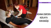 Adana OSB'den Kızılay'a kan bağışı