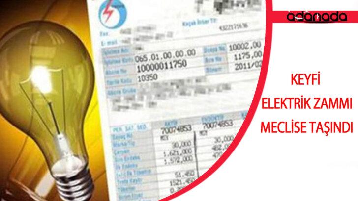 Keyfi Elektrik Zammı Meclise Taşındı