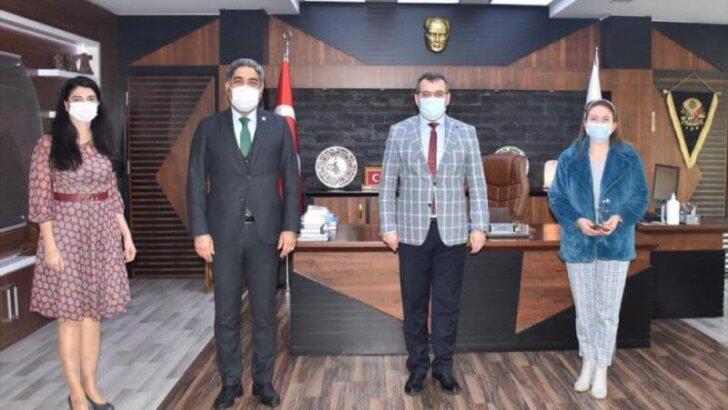 Adana Baro Başkanı Veli Küçük, Başsavcı Bilal Gümüş'ü ziyaret etti