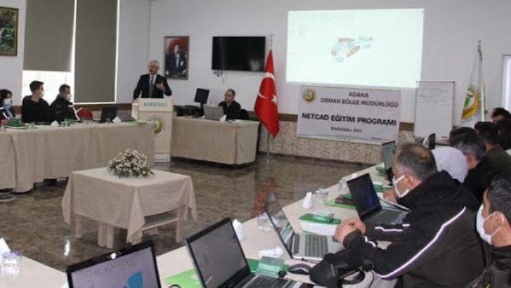 Adana Orman Bölge Müdürlüğü personeline harita eğitimi verildi
