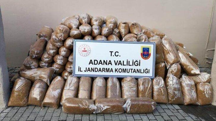 Adana'da gümrük kaçağı 942 kilogram tütün ele geçirildi