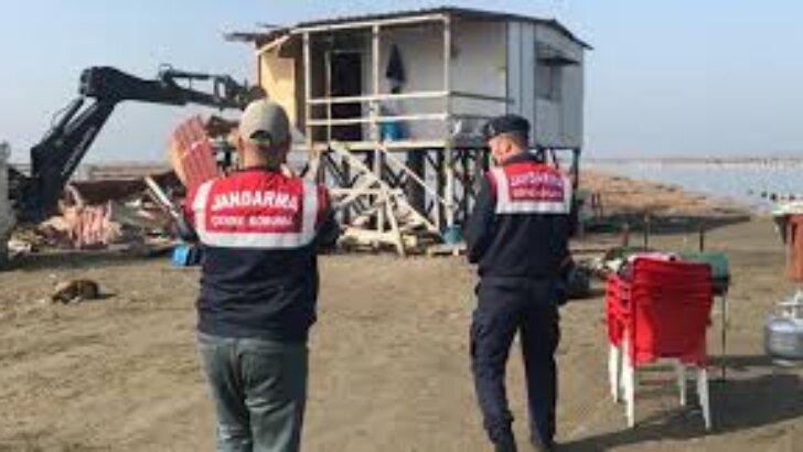 Adana'da sit alanındaki 63 baraka yıkıldı