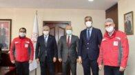 Türk Kızılay tarafından Adana'daki sağlık çalışanlarına bir tır hijyen malzemesi desteğinde bulunuldu