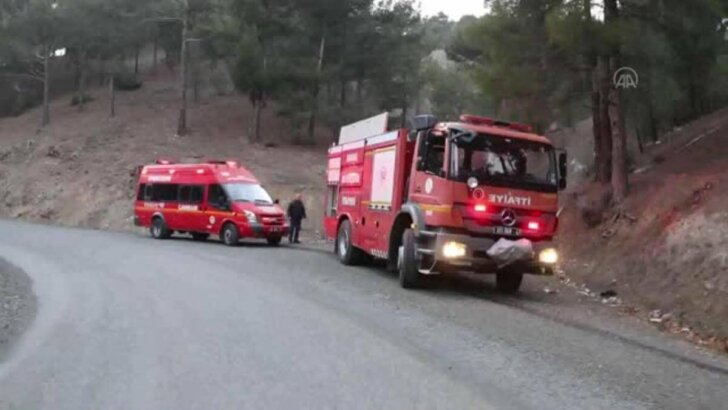 Pozantı'da çıkan orman yangınında 2 dönüm alan yandı
