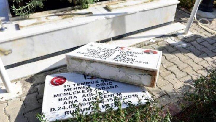 Şehit mezarları dahil, 79 mezar taşını tahrip ettiği öne sürülen 5 şüpheli yakalandı