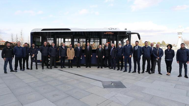 İlk elektrikli sürücüsüz otobüs... Cumhurbaşkanı Erdoğan tanıtım törenine katıldı