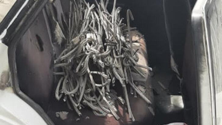Adana'da demir ve kablo hırsızlığına teşebbüs eden 2 şüpheli yakalandı