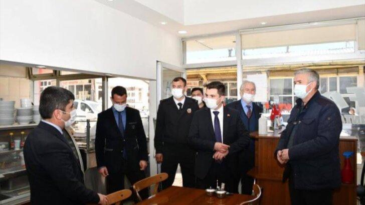 Tufanbeyli ilçesinde Kovid-19 denetimi yapıldı