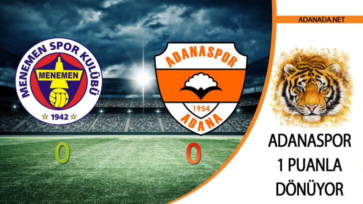 Adanaspor 1 puanla Dönüyor
