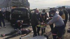 Adana'da TIR'a arkadan çarpan hafif ticari araç hurdaya döndü: 4'ü ağır 5 yaralı