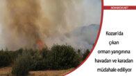 Adana Kozan'da çıkan orman yangınına havadan ve karadan müdahale ediliyor