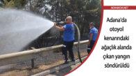 Adana'da otoyol kenarındaki ağaçlık alanda çıkan yangın söndürüldü