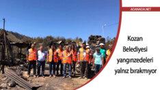Kozan Belediyesi yangınzedeleri yalnız bırakmıyor
