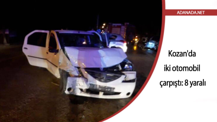 Kozan'da iki otomobil çarpıştı: 8 yaralı