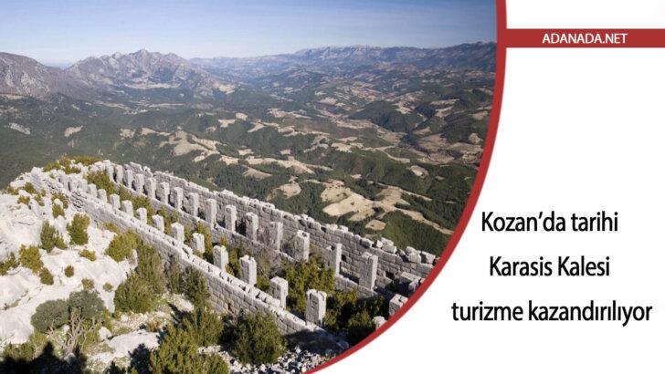Kozan'da tarihi Karasis Kalesi turizme kazandırılıyor