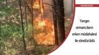 Yangın ormancıların erken müdahalesi ile söndürüldü
