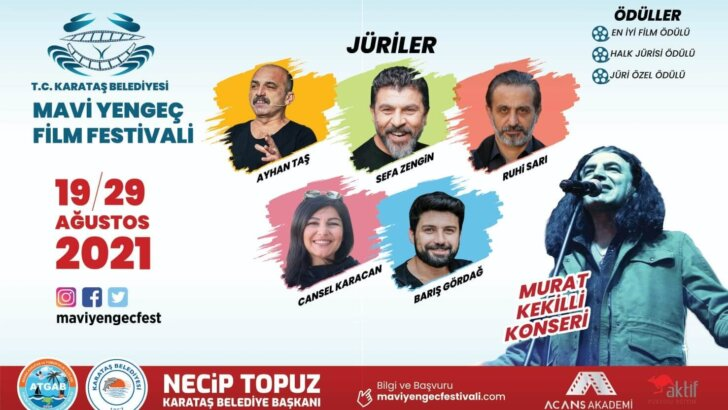 Adana'da 1. Ulusal Mavi Yengeç Kısa Film Festivali düzenlenecek