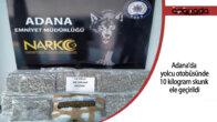 Adana'da yolcu otobüsünde 10 kilogram skunk ele geçirildi