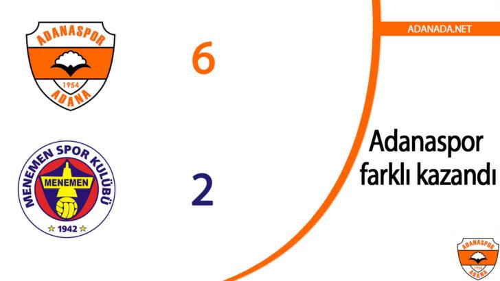 Adanaspor: 6 Menemenspor: 2