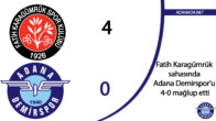 Fatih Karagümrük, sahasında Adana Demirspor'u 4-0 mağlup etti
