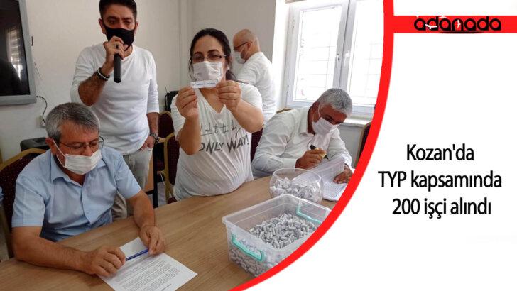 Kozan'da TYP kapsamında 200 işçi alındı
