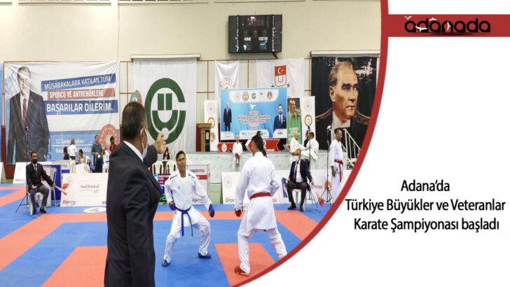 Türkiye Büyükler ve Veteranlar Karate Şampiyonası, Adana'da başladı