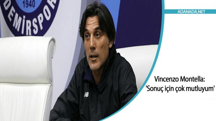 Vincenzo Montella: 'Sonuç için çok çok mutluyum'